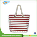 Canvas Bag Rope Wholesale Custom Cheap Striped Canvas Bags
