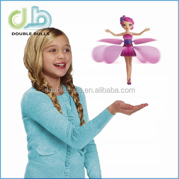 Custom elsa princess flying fairy induction remote control floating small fairy flying toys With the base Add USB cable