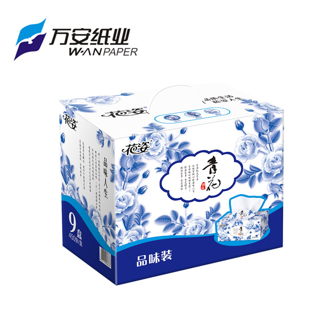 Facial Tissue Box Tissue 150 sheets 3 ply tissue paper