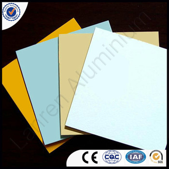 plastic composite panel PE or PVDF coating