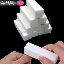 Factory Sale High Quality Acrylic Nail Tips Care Tools White Buffer Buffing Block Sanding Nail File