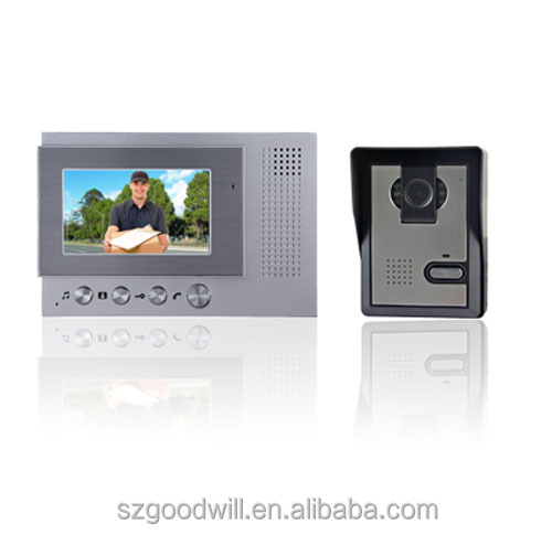 smart design home villa apartment video door phone 4.3 inch color lcd video inter come system