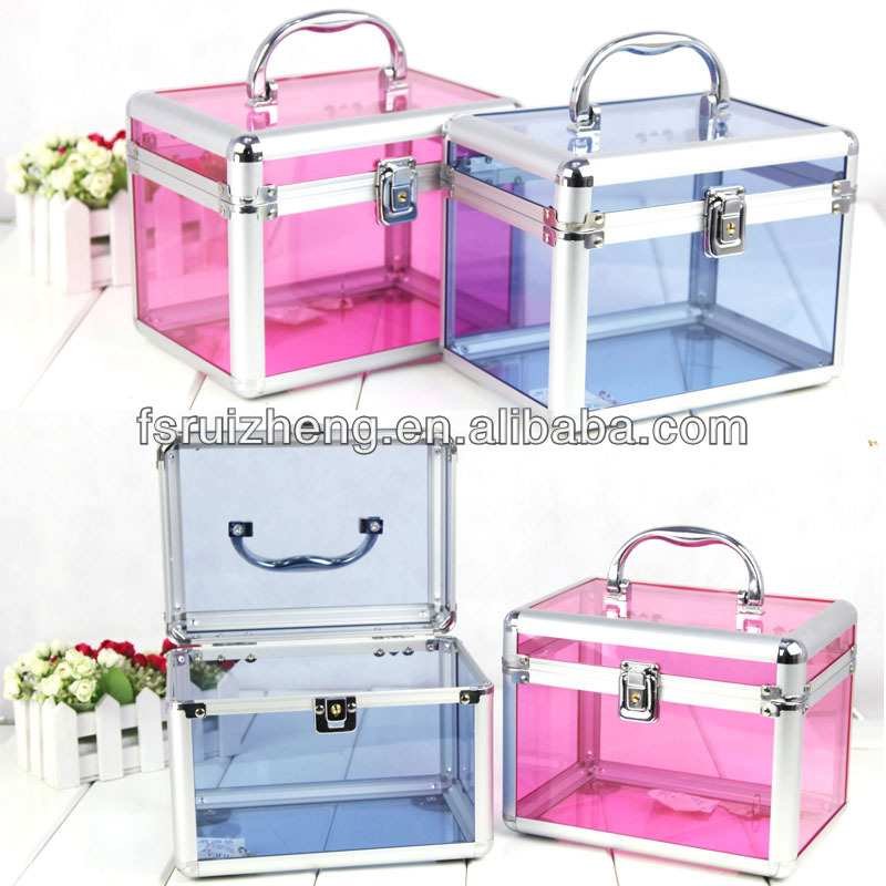 Clear transparent acrylic cosmetic makeup case RZ-C358