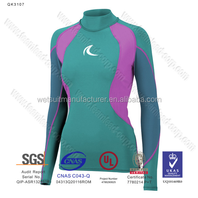 Long Sleeve Swimwear Upf 50+ Sun Protective Rashguard For Women