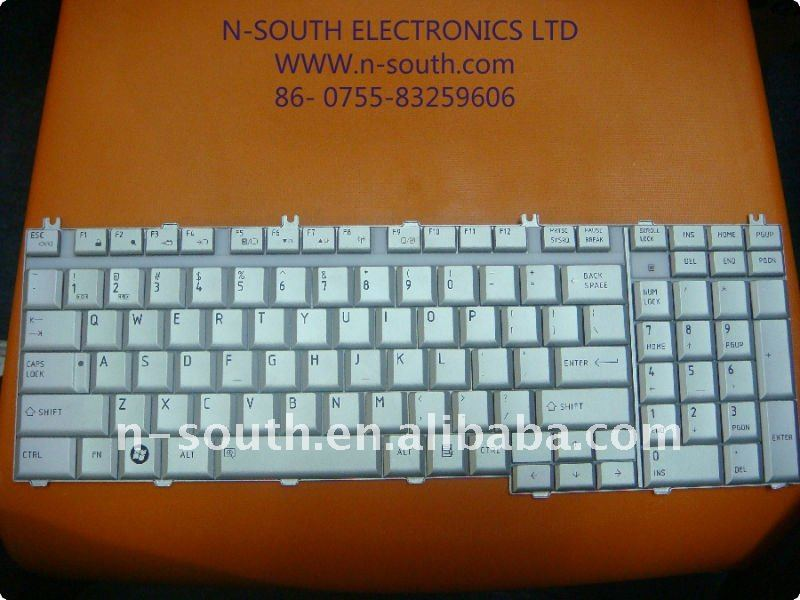 Standard Different Parts of Laptop Keyboard for TOS P200 P205 White Series