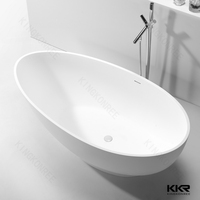 white matt free standing bath tub