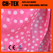 Ladies summer dress red and white polka dot fabric