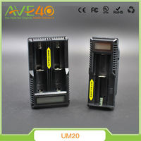 2015 new design Nitecore UM20 li-ion battery charger dual slot multi charger AA and AAA 4.2v battery charger