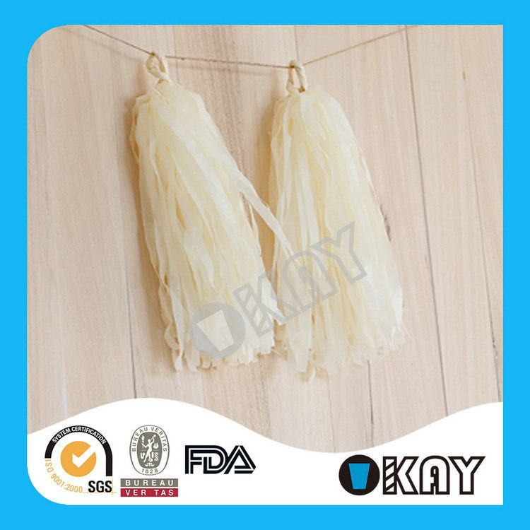 2015 New Design Best Selling Baby Shower Tissue Paper Tassels Garland
