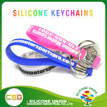 Customized logo souvenir silicone keychain wristband ,rubber key chain,promotion keyring