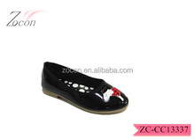 slip-on patent leather shoes animal kids shoes
