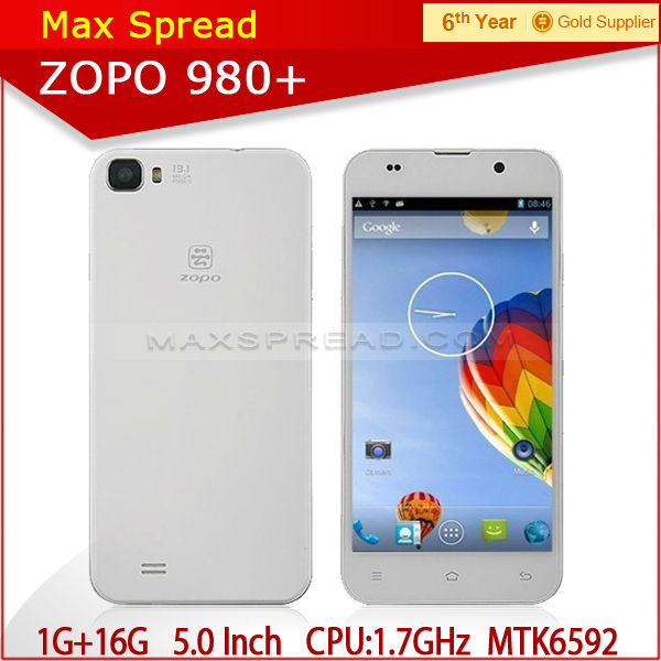 Attractive Newest 5'' FHD 1920x1080 ips Zopo Octa core mobile phone Zp980+ factory prices cell phones