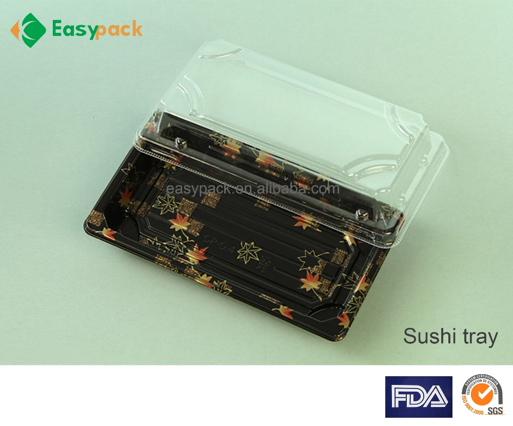 FDA Qualified food grade disposable plastic Sushi Tray