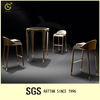 Hot Sale Luxury Morden Industrial Metal Bar Tables/High bar chair nail bar furniture LG48-SET