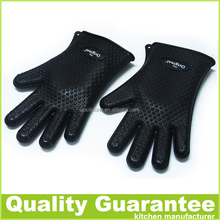 BPA free heat resistant silicone oven mitt silicone oven gloves silicone cooking glove bbq grill glove