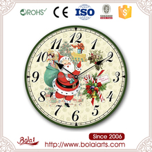 Mini santa claus design christmas deco funny wall clocks for home