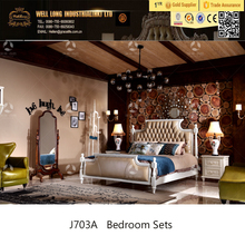 2017 new classic French Luxury Style white Bedroom Sets/ Solid Wood King Size Bed/Home Furniture