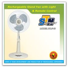 Portable solar rechargeable battery deluxe floor fan
