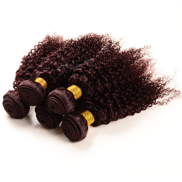 China hair factory wholesale best hair extension 99j jerry curl brazillian hair weave