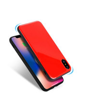Multi Color clean glass phone case and shockproof phone case for iphone X back cover