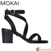 Snake embossed leather new model women sandals shoes women sandals girls high heel sandals
