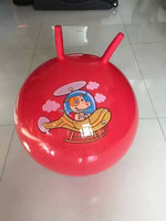 PVC inflatable toys ball with handle, jumping ball, hopper ball