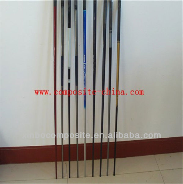 OEM carbon fiber tubes with printed logo in carbon fiber tube