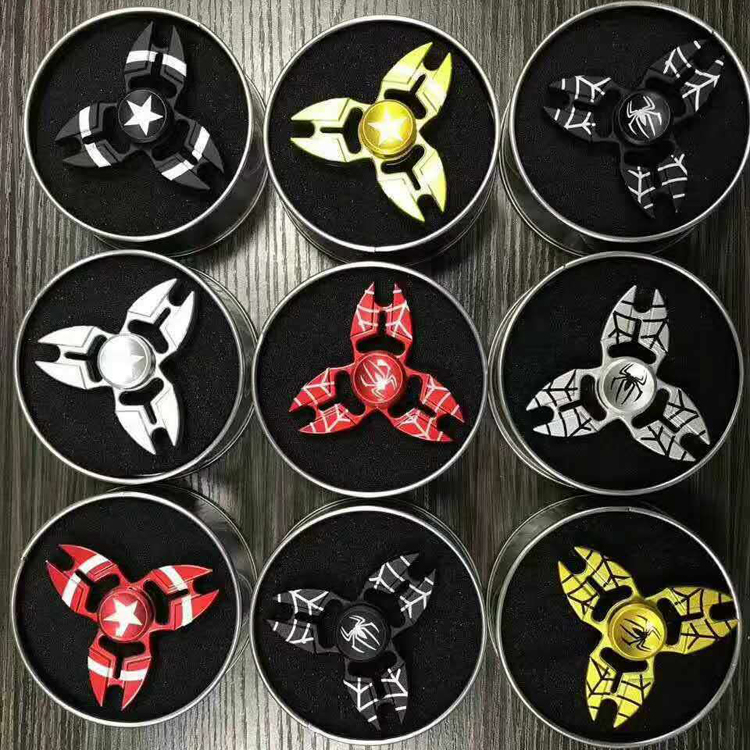 Colorful designs logo Customized fidget spinner caps