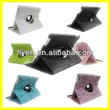 Good Price For NEW iPad 4 3 2 Slim PU Leather Smart Cover And Case Wake Up/Sleep Function Sculpture Fancy Pattern
