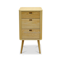Scandinavian design wooden low chest of drawers cheap