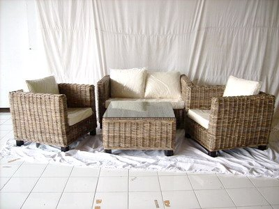 Batavia Living set w/rattan koboo grey