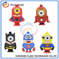 Hotsale cartoon supermen usb flash drive True capacity 8gb usb pendrive Best Gifts usb 2.0 memory stick with free shipping