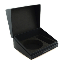 Luxury candle box delicate square black cardboard candle packaging boxes
