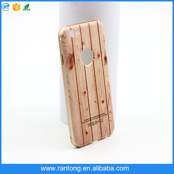 2016 Hot Selling unique wood grain Mobile phone case for iPhone 6
