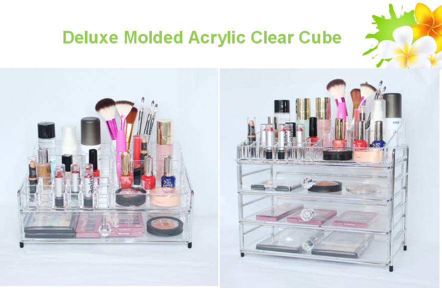 clear cube makeup organizer