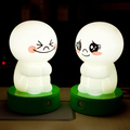 Cute Plastic Figure with Funny Emotional Face LED Night Toy
