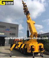 90T telescopic hydraulic truck mounted crane knuckle boom crane