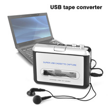 USB Cassette Tape to PC MP3 CD Switcher Converter Capture Audio Music Player with Headphones