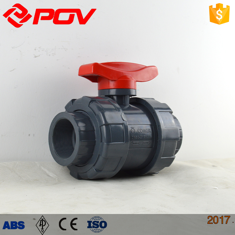 Manual control Plastic water shut off Unions Ball valve