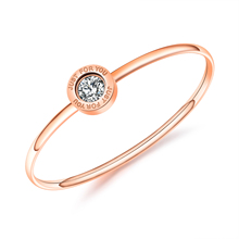 Wholesale Rose Gold color two chosen Women Stainless Steel Bracelet Jewelry Bracelet
