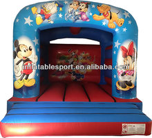 Hot sale inflatable bouncy castle with art panels
