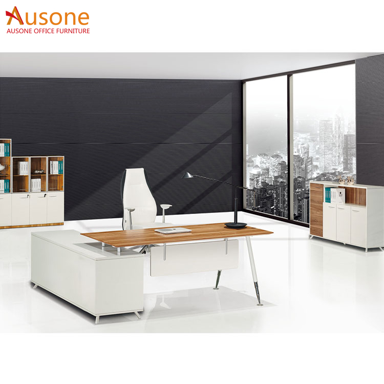 European style high quality metal frame executive office desk