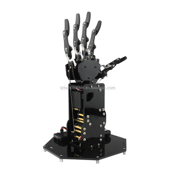 uHand Bionic Robot Hand Palm Mechanical Arm Five Fingers with Control System for Robotics Teaching Training