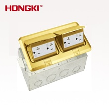Duplex Pop up raised Brass stainless steel electric plug socket box