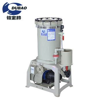 Industrial chemical filter system with activated carbon filter for plating
