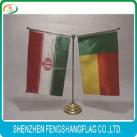 Innocuous terry cloth table cover custom table flags wooden flag pole and stand table flags