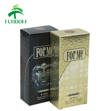 custom printed embossing logo luxury golden paper cardboard personal care foldable cosmetic perfume packing box for 30ml bottles