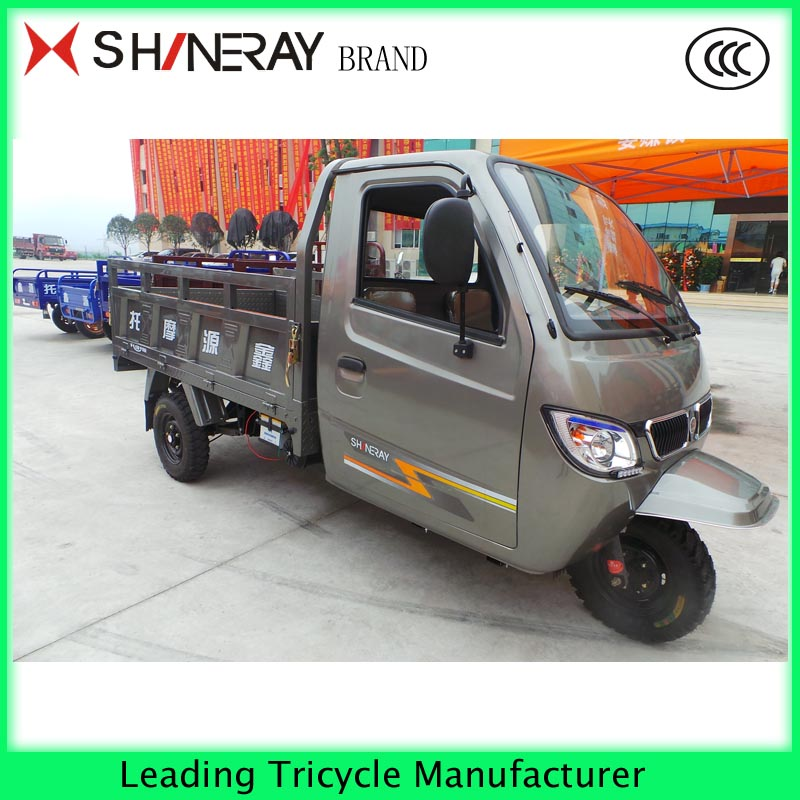 250cc and 3 big wheels cargo tricycle with cabin hot sale