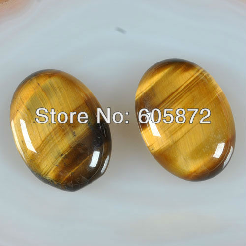 C0020 A Grade Natural Tiger' eye Cabochons large size 30X22mm tiger eye oval cabs