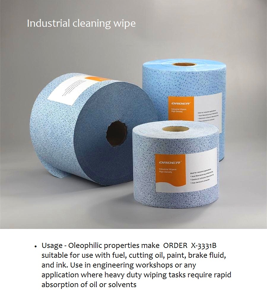 Jumbo roll 100% polypropylene industrial nonwoven cleaning wipes